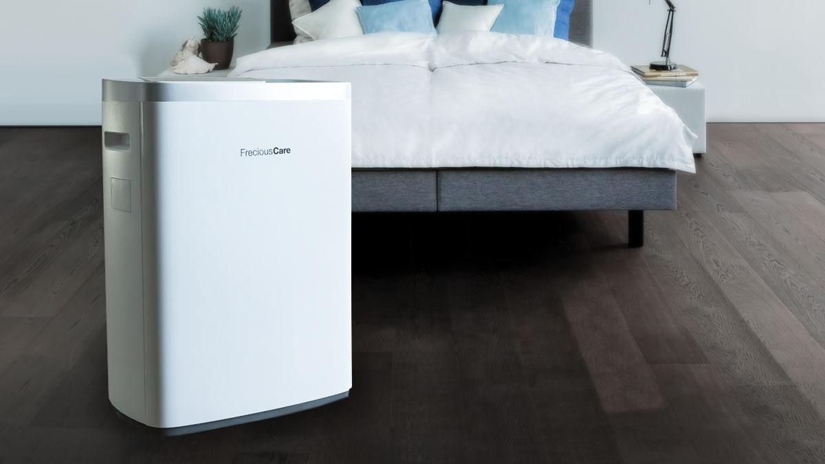 Besser Schlafen bei guter Raumluft  Luftreiniger FreciousCare von